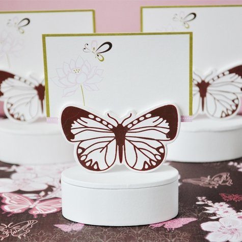 Butterfly Wedding Gift Card Box : Butterfly Place Card Holder Favor Box (Set of 12)