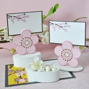 Cherry Blossom Place Card Holder Favor Box (Set of 12) image