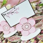 Cherry Blossom Place Card Holder Favor Box (Set of 12)