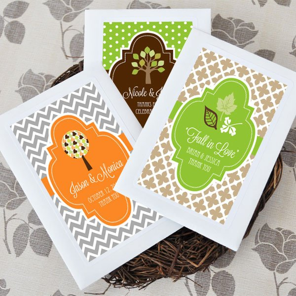 Personalized Autumn Wedding Favor Seed Packets