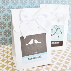 Elite Personalized Wedding Candy Favor Boxes (Set of 12) image
