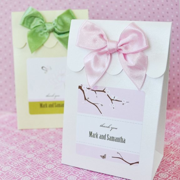 Elite Personalized Wedding Candy Favor Boxes Set Of 12