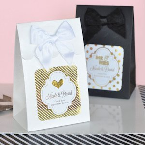 Metallic Foil Wedding Sweet Shoppe Candy Boxes image