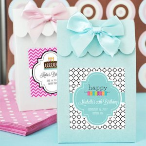 Personalized Birthday Candy Shoppe Favor Boxes image