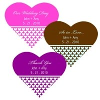 Personalized Heart Shaped Favor Labels