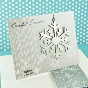 snowflake christmas ornament wedding favor place cards image