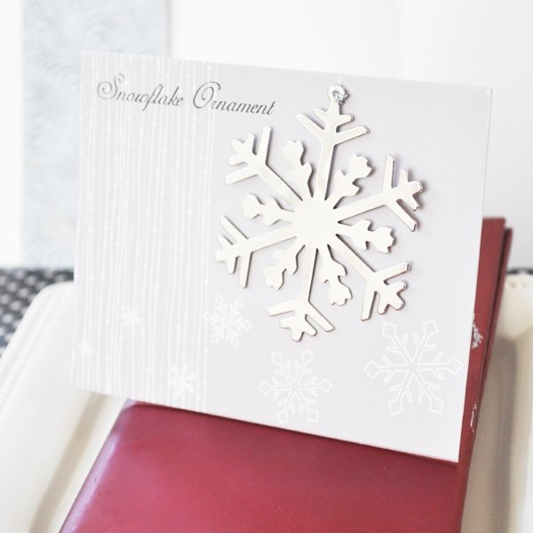 Snowflake Christmas Ornament Wedding Favor Place Cards