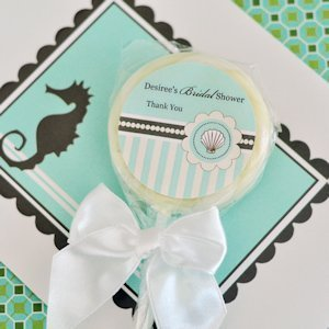 Personalized Lollipop Beach Shower Favors image