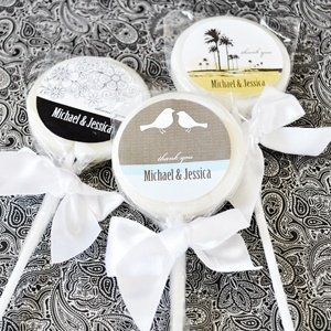 Elite Wedding Lollipop Favors image