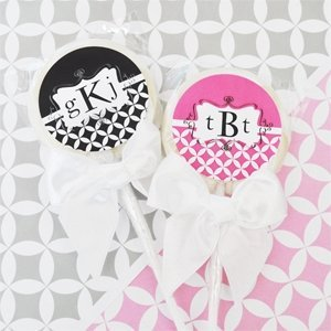 Mod Monogram Lollipop Favors image