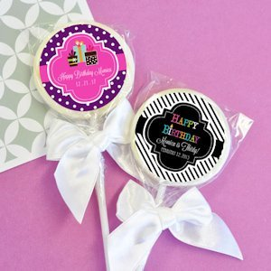 Personalized Birthday Lollipop Favors image