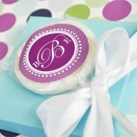 Monogrammed Lollipop Favors