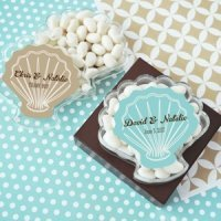 Personalized Seashell Favor Boxes