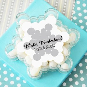 Personalized Snowflake Favor Boxes image