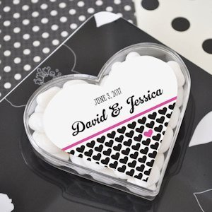 Personalized Heart Shaped Favor Boxes image