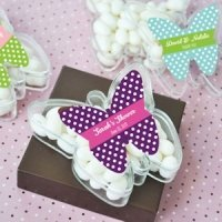 Personalized Butterfly Favor Boxes