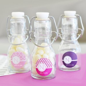 MOD Pattern Monogram Mini Glass Bottles image