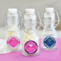 Personalized Theme Mini Glass Bottle Favors