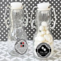 Personalized Vegas Theme Mini Glass Bottle Favors