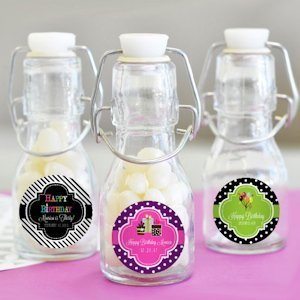 Personalized Birthday Mini Glass Bottle Favors image