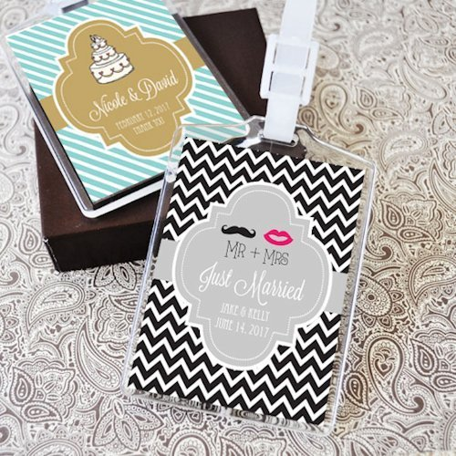 Luggage Tags Wedding Favors: Personalized Theme Luggage Tag Favors