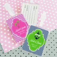 Personalized Theme Luggage Tag Favors