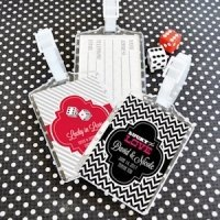 Vegas Casino Theme Personalized Luggage Tag Favors
