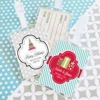Winter Holiday Personalized Luggage Tags