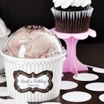 Personalized Chocolate Cupcake Mix Favors