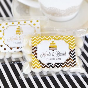 Personalized Metallic Foil Jelly Bean Packs image