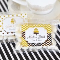 Personalized Metallic Foil Jelly Bean Packs