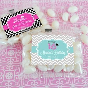 Personalized Jelly Bean Favors for Sweet 16 (or 15) image