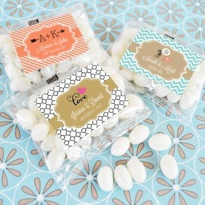 Personalized Jelly Bean Wedding Favors image