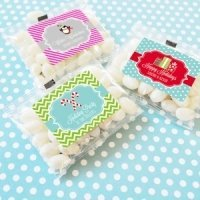 Winter Holiday Personalized Jelly Bean Favor Packs