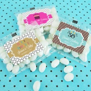 Happy Birthday Personalized Jelly Bean Favor Packs image
