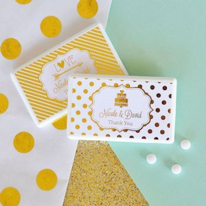 Personalized Metallic Foil Mini Mint Favors image