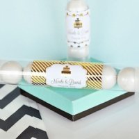 Personalized Metallic Foil Wedding Candy Tubes