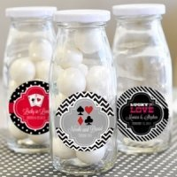 'A Lucky Pair' Personalized Milk Bottles