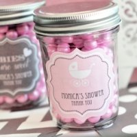 Personalized Baby Mini Mason Jars