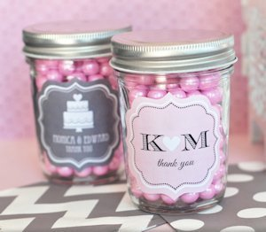 Personalized Wedding Mini Mason Jars image