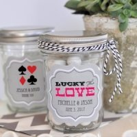 'A Lucky Pair' Vegas Mini Mason Jars