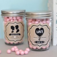 Vintage Themed Wedding Favors - Mini Mason Jars