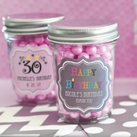Birthday Mini Mason Jars