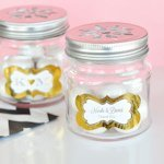 Personalized Metallic Foil Mason Jar Drinking Glasses