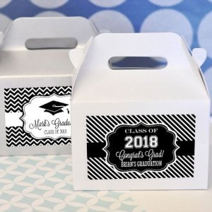'Hats off to You' Graduation Mini Gable Boxes (Set of 12) image