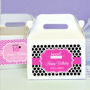 Sweet 16/15 Mini Gable Favor Boxes (Set of 12) image
