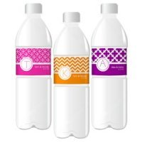 Monogram Water Bottle Wrappers - MOD Pattern