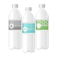 Wedding Water Bottle Labels - MOD Pattern