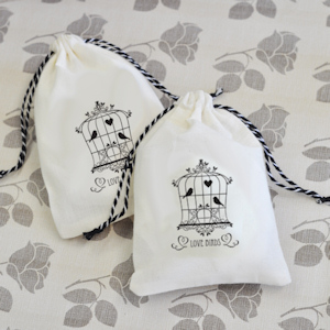Vintage Muslin Bags (Set of 12) image