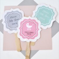 Personalized Baby Shower Paddle Fans